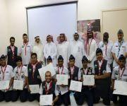 كشافون وقادة جمعية صعوبات التعلم يحتفلون بنجاح الحج ١٤٤٠هـ