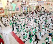 وطن الشموخ يطرز احتفالات مدارس تعليم القصيم باليوم الوطني