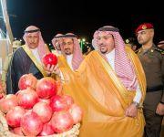 الأمير فيصل بن مشعل يرعى اليوم الذهبي لمهرجان الرمان  بمركز الشيحية