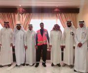اجتماع تحضيري بين هيئة الهلال الاحمر السعودي بمنطقة القصيم وفرع وزارة العمل والتنمية بالقصيم لعقد شراكة إجتماعية