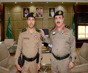 مدير شرطة القصيم يقلد اللحيدان قائد قوة المهمات والواجبات الخاصة بشرطة القصيم رتبته الجديدة
