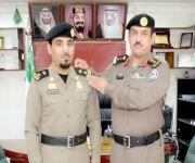 قائد القوة الخاصة لأمن الطرق بالقصيم يقلد المقدم الحربي رتبته الجديدة