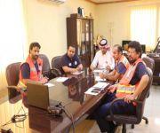 فرع هيئة الهلال الأحمر بالقصيم يعقد اجتماع مرئي عن بعد عبر برنامج AVAYA لمبادرة ( معاً ننجز )