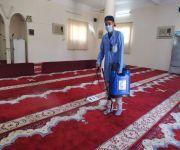 إدارة المساجد بالنبهانية تعقم مساجد وجوامع المحافظة