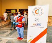 فرق إسعافية وتطوعية من هيئة الهلال الأحمر بالقصيم تواجدت في مساجد المنطقة في صلاة عيد الأضحى المبارك