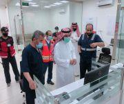 سعادة المشرف العام على الشؤون الإسعافية بهيئة الهلال الأحمر السعودي يعايد غرفة عمليات فرع منطقة القصيم