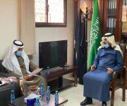 محافظ ضرية يلتقي مدير فرع وزارة البيئة والمياه والزراعة بمنطقة القصيم