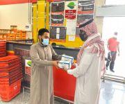 بلدية محافظة ضرية بالقصيم توزع  أكثر من ٣٠٠٠ ألاف كمامة على المحلات التجارية