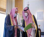 سمو الأمير فهد بن تركي بن فيصل يتسلم تقرير فرع وزارة الشؤون الإسلامية بالقصيم