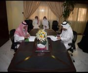 فرع وزارة الموارد البشرية في القصيم يوقع عقد شراكة مع جمعية عنيزة للخدمات الإنسانية (تأهيل)