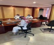 مساعد مدير عام فرع وزارة الموارد بالقصيم لقطاع العمليات وممثل من الوزارة يعقدون اجتماعاً