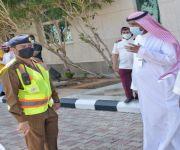 خطة إخلاء وحريق مشتركة  بمبنى مركز الدكتور ناصر الرشيد لرعاية الايتام ودار الرعاية الاجتماعية للمسنين بحائل