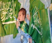 """مستشفى الرس العام يستقبل أول مولود في اليوم الوطني الـ 91 .. ووالديه يسمونه """"سلمان"""""""