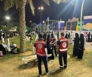 هيئة الهلال الأحمر بمنطقة القصيم يشارك في اليوم الوطني السعودي 91
